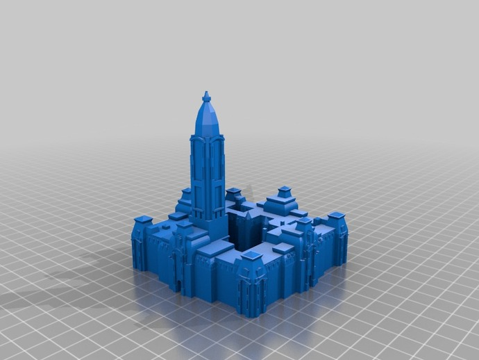 费城市政厅 3D打印模型渲染图
