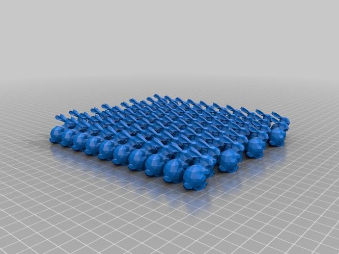 小兔子 3D打印模型渲染图