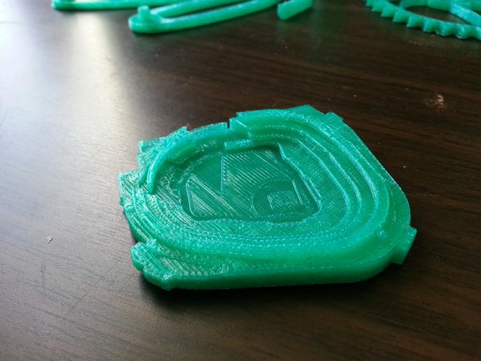 棒球体育场 3D打印模型渲染图
