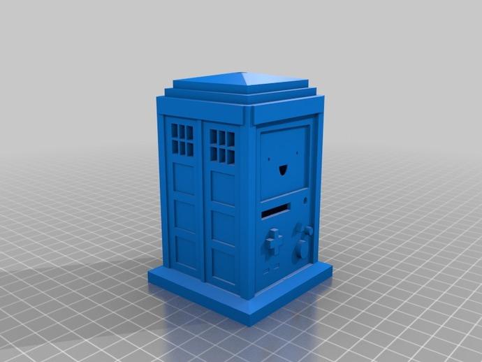 哔莫警察亭 3D打印模型渲染图