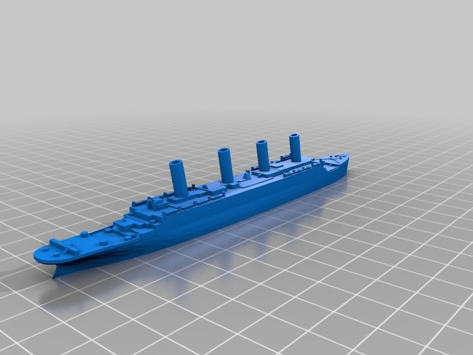 泰坦尼克号 3D打印模型渲染图