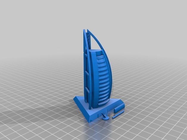 帆船酒店  3D打印模型渲染图