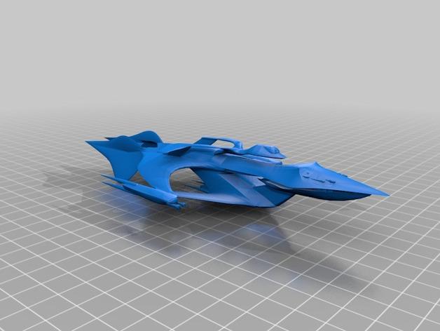 Whitestar战斗机 3D打印模型渲染图