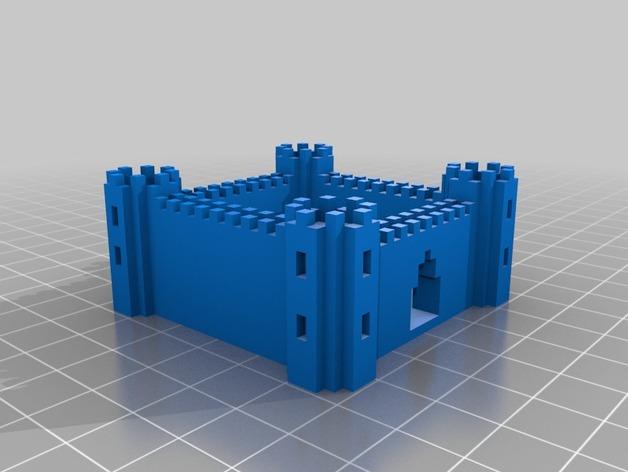 城堡 游戏建筑 3D打印模型渲染图