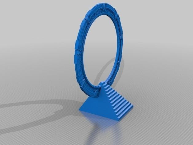 星际之门  3D打印模型渲染图
