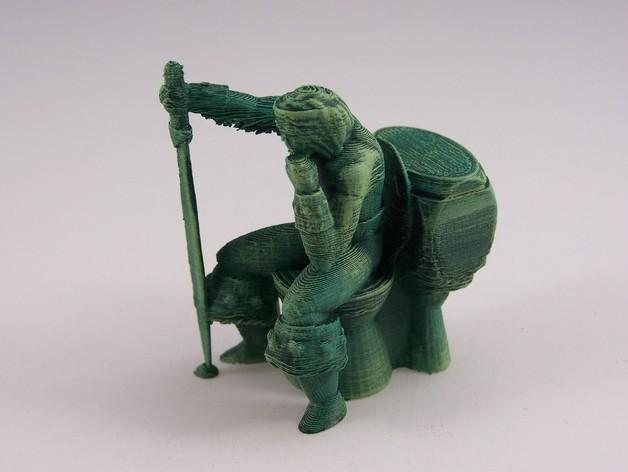 看守员 游戏造型  3D打印模型渲染图
