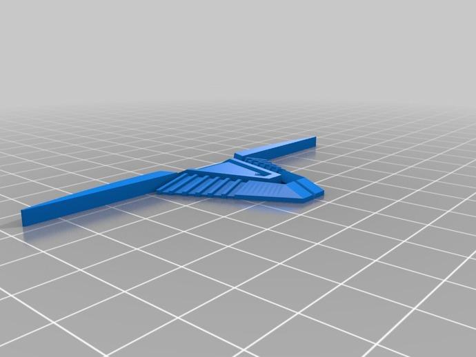 V形臂章 3D打印模型渲染图