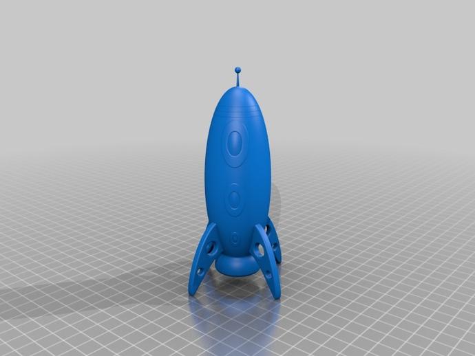 科幻太空飞船 3D打印模型渲染图