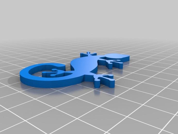 壁虎 3D打印模型渲染图