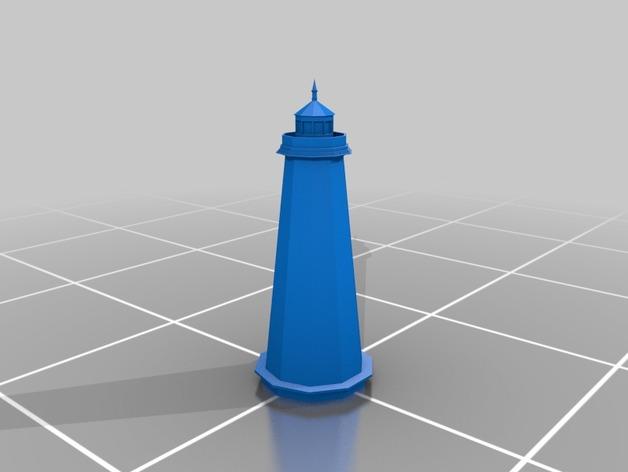 杰纳西河灯塔 3D打印模型渲染图