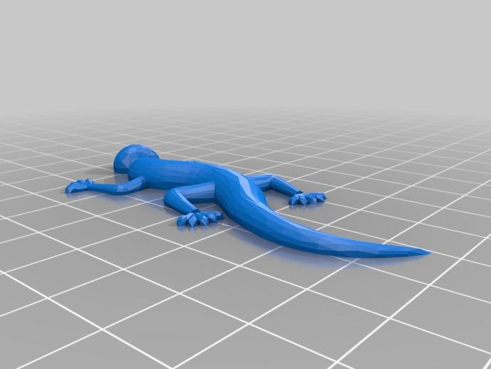 壁虎 蜥蜴 3D打印模型渲染图