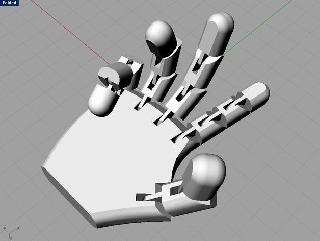 机器人的手 3D打印模型渲染图