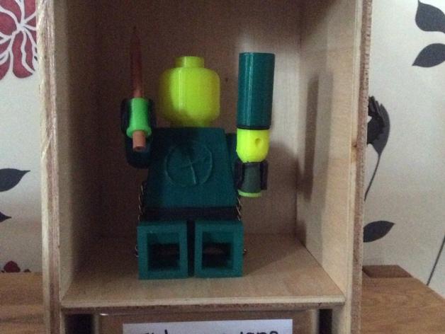 乐高人仔 听诊器 3D打印模型渲染图