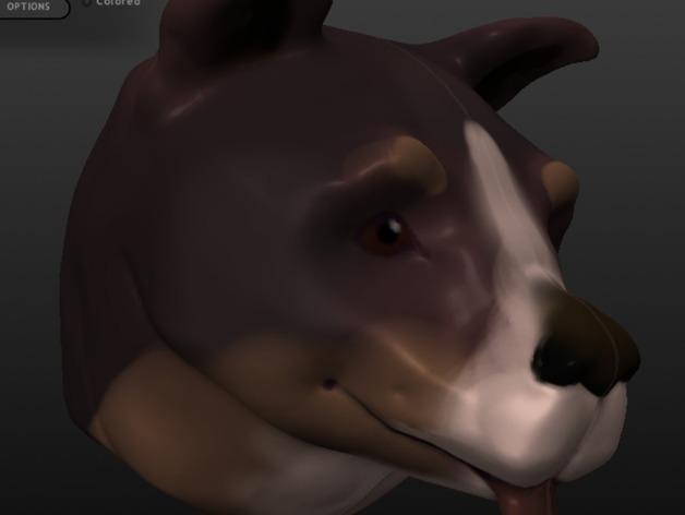 狗头模型 3D打印模型渲染图