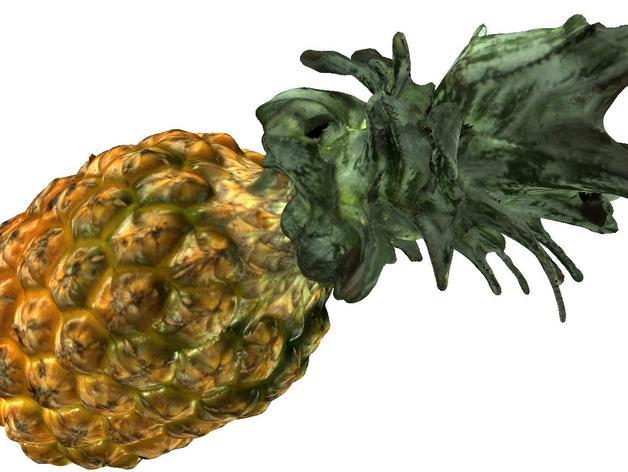 菠萝 3D打印模型渲染图