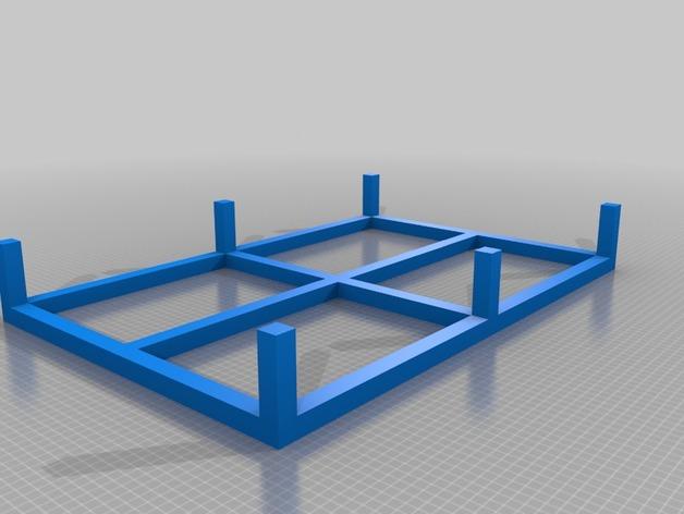 底层架空柱 3D打印模型渲染图