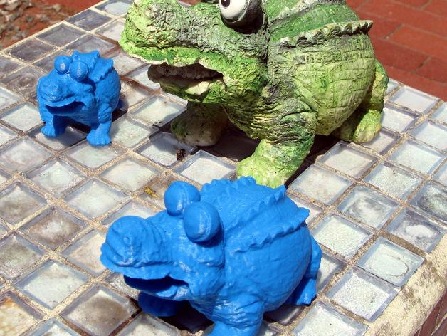 鳄鱼 3D打印模型渲染图