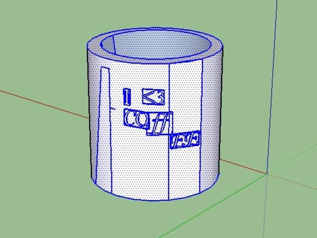 咖啡杯  3D打印模型渲染图