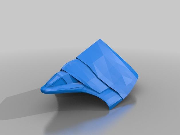Goa'uld Tel'tak货运飞船 3D打印模型渲染图