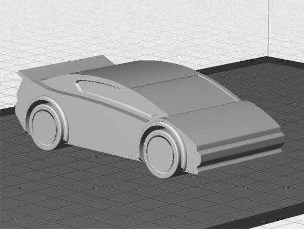 运动跑车 3D打印模型渲染图