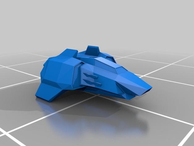 Magnum AHT战斗机 3D打印模型渲染图