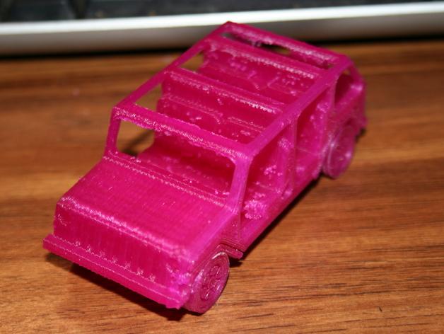 四门软顶牧马人吉普车模型 3D打印模型渲染图