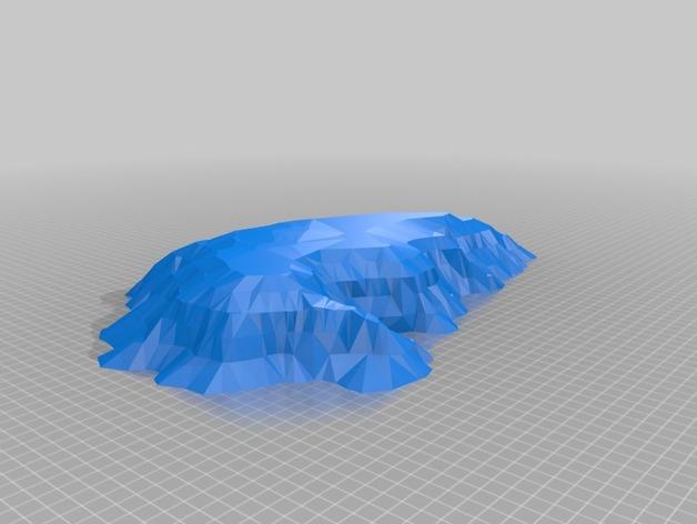 艾尔斯巨石 乌鲁鲁巨石 3D打印模型渲染图
