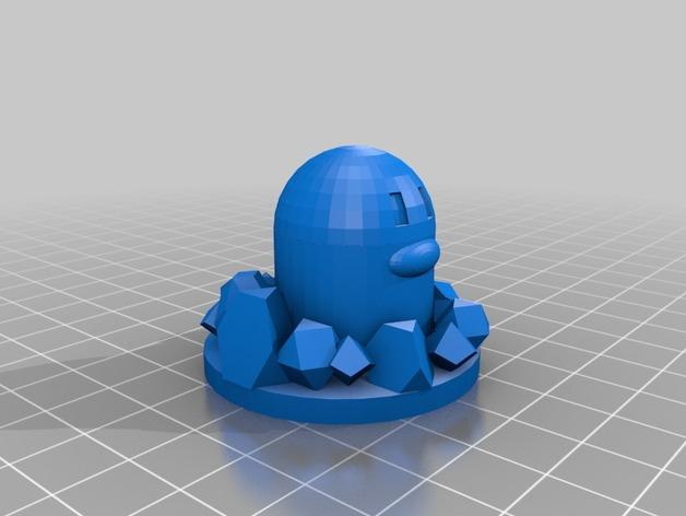 口袋妖怪 地鼠 3D打印模型渲染图