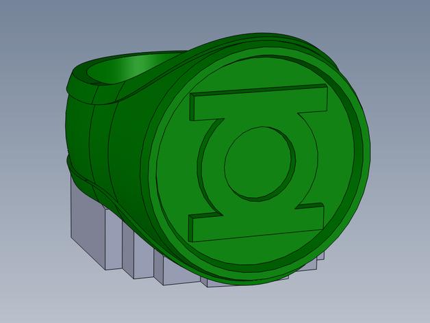绿灯指环 3D打印模型渲染图