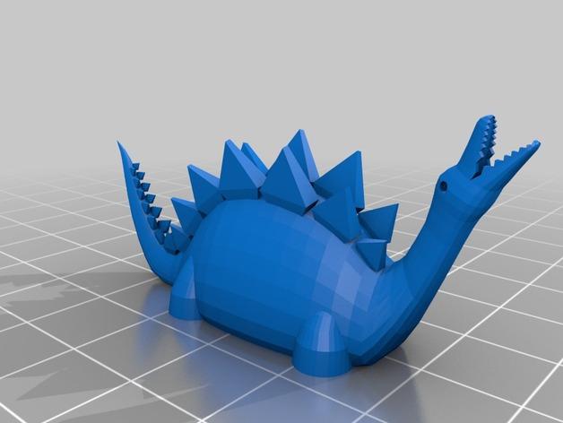 恐龙 3D打印模型渲染图