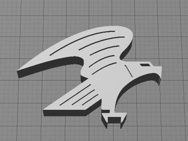美国秃鹰 标志 3D打印模型渲染图