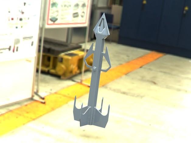 太空火箭模型 3D打印模型渲染图