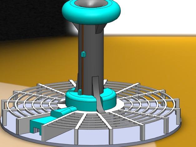 火星基地太阳能烟囱 3D打印模型渲染图