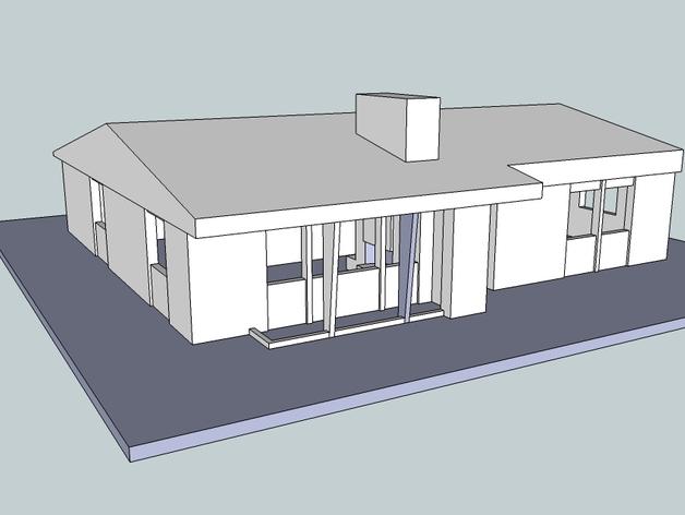 Vintage 房屋模型 3D打印模型渲染图