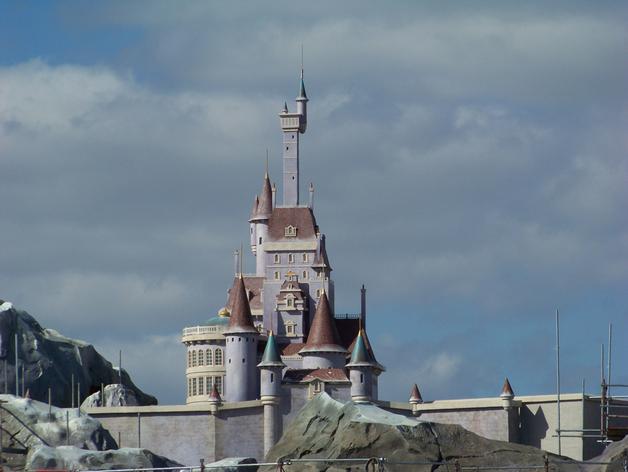 美女与野兽城堡 3D打印模型渲染图