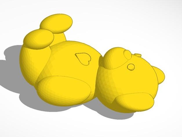维尼熊  3D打印模型渲染图