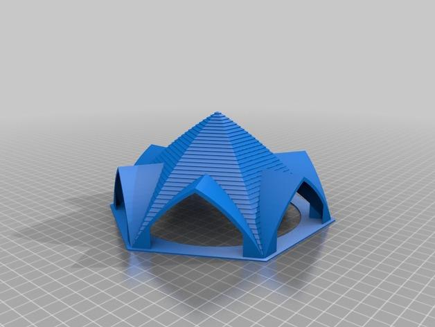 拱形屋顶 3D打印模型渲染图