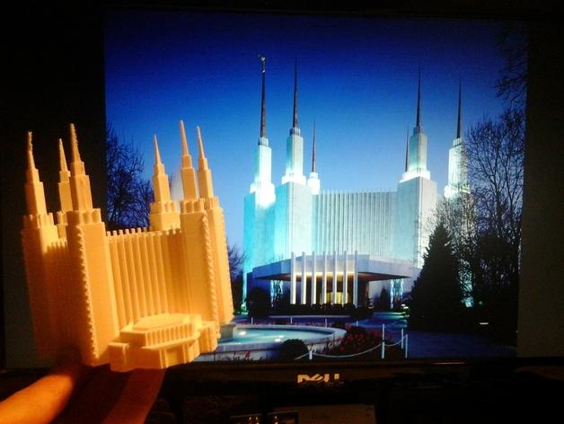 华盛顿寺庙 3D打印模型渲染图