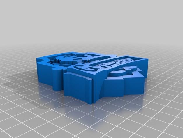 格兰芬多徽章 3D打印模型渲染图
