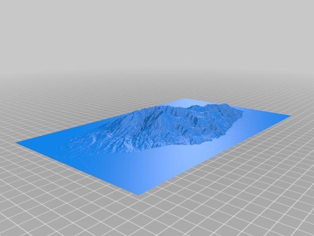 埃维亚州地形模型 3D打印模型渲染图