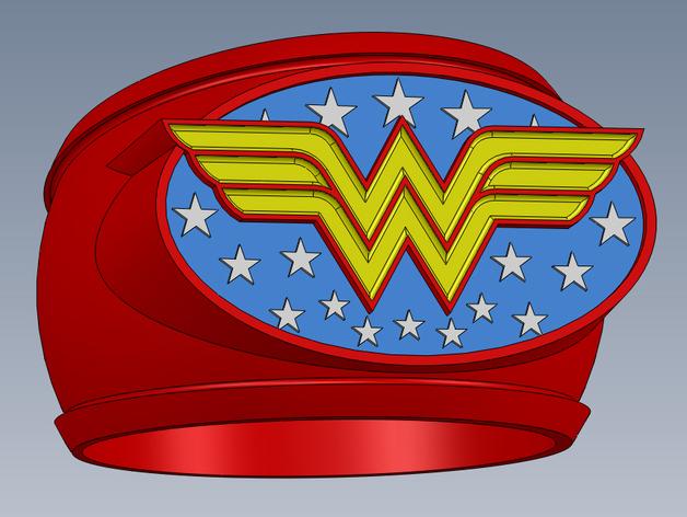 神奇女侠指环 3D打印模型渲染图