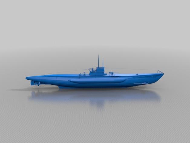 潜水艇 3D打印模型渲染图