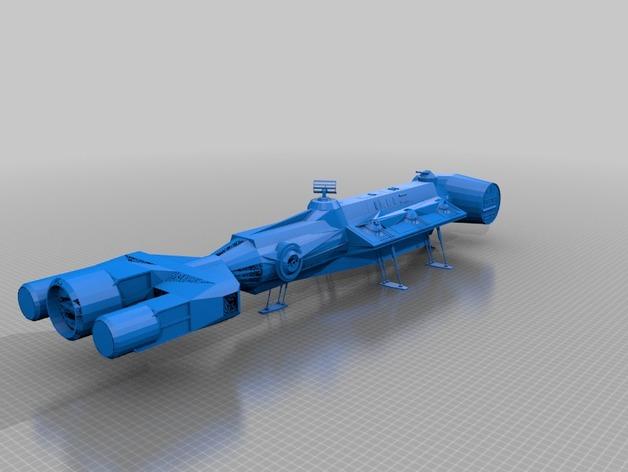 星球大战之坦特维宇宙飞船 3D打印模型渲染图