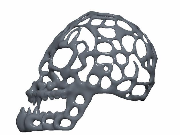 泰森多边形怪物头骨