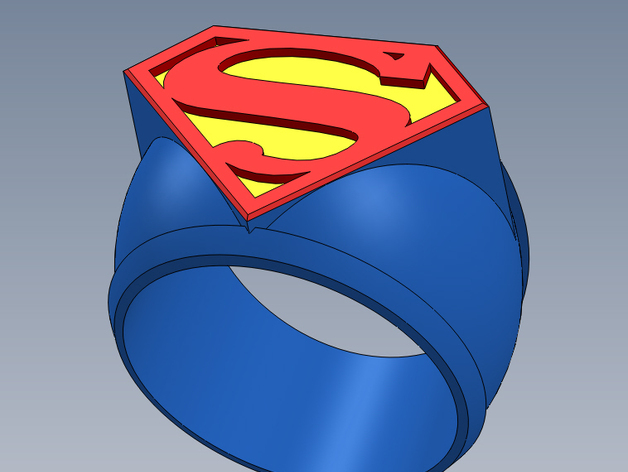 超人指环 3D打印模型渲染图