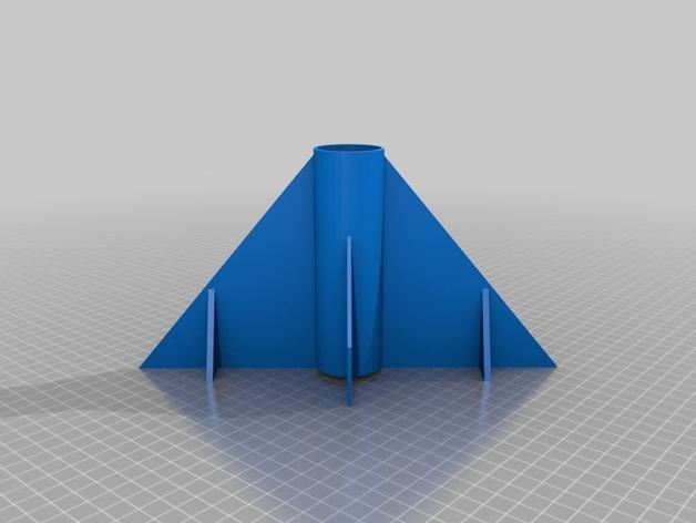 火箭底部 火箭鳍 3D打印模型渲染图
