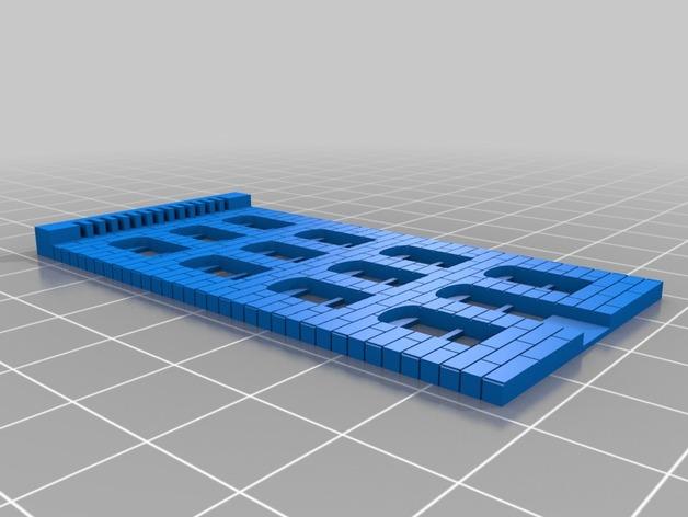 砖块楼房模型 3D打印模型渲染图