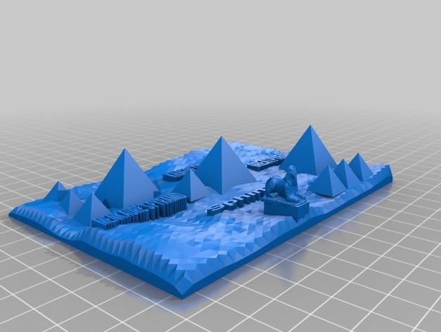 吉萨金字塔3D地图