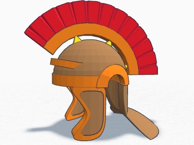 罗马人头盔 3D打印模型渲染图