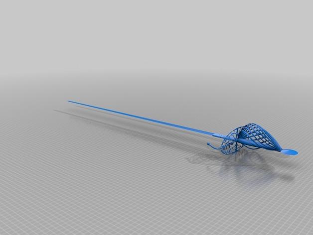 长剑 3D打印模型渲染图